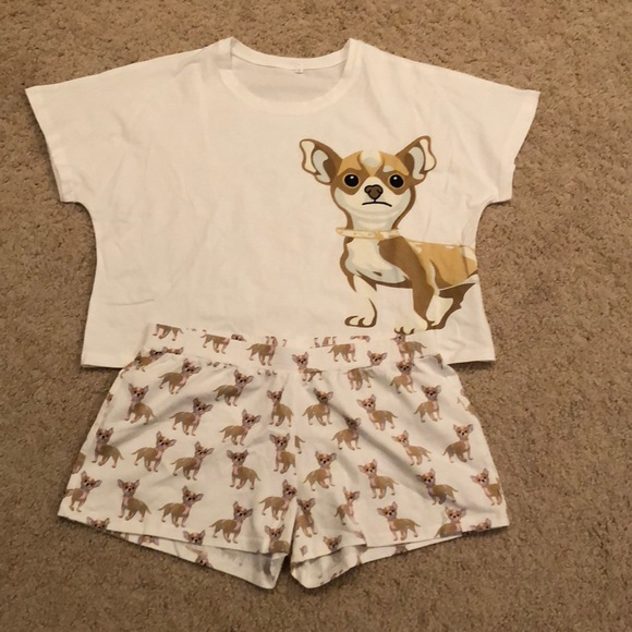 52cc32d36fe Brand New Chihuahua Print PJs. M 5b7cd2be153795918e91733c